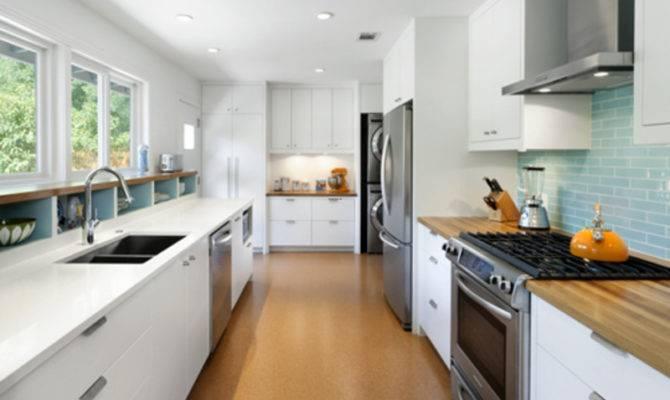 Galley Kitchen Designs Before After Modern