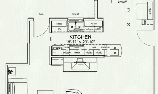 Galley Kitchen Floor Plan Small Plans Layouts