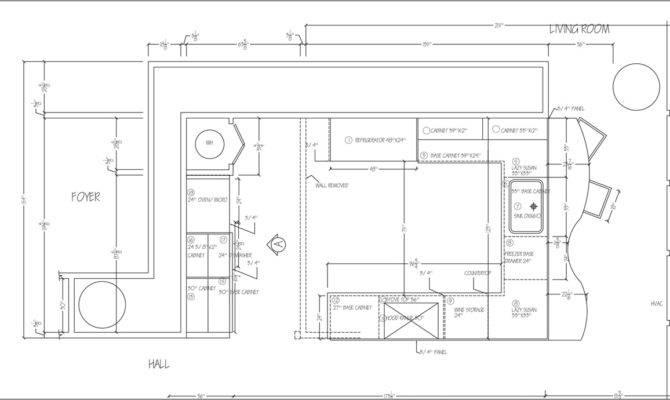 Galley Kitchen Floor Plans Home Deco