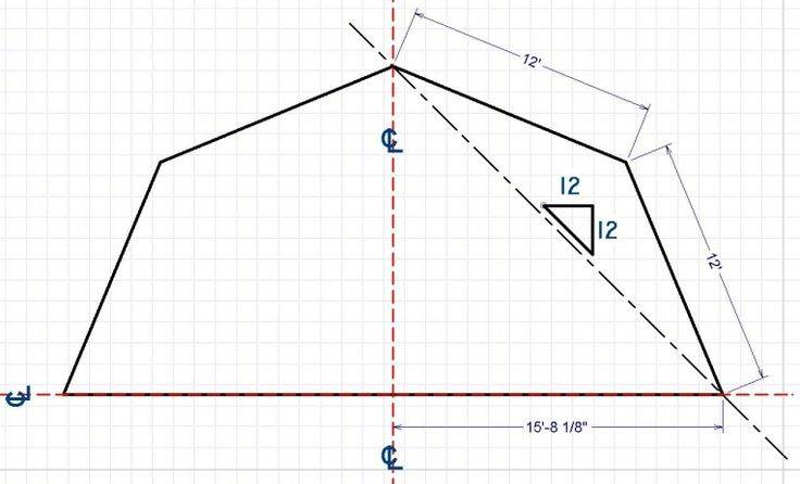 Gambrel Angled Calculator Roof Design Diy Projects Home Plans Blueprints 29953