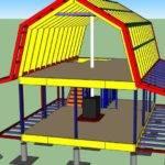 Gambrel Roof Cabin House Ideas Pinterest