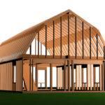 Gambrel Roof Garage Plans Doors Short Side