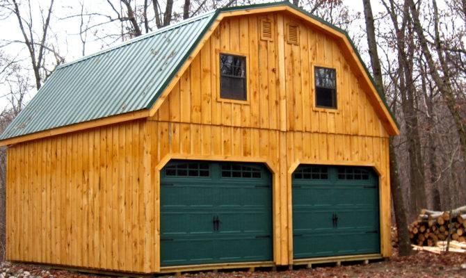 Gambrel Roof Garage Story Prefab Horizon Structures