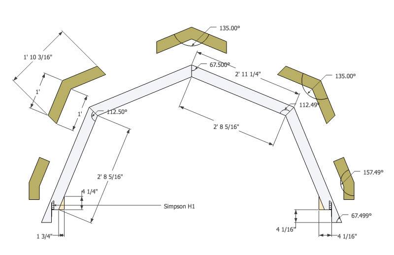 Gambrel Roof Trusses Tinyhousedesign Micro Home Plans Blueprints 30040