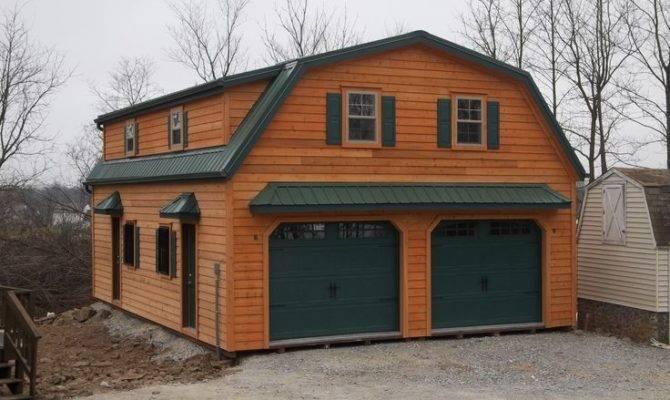 Gambrel Story Garage Doublewide Garages Stoltzfus Structures