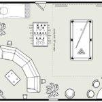 Game Room Design Layout Seating Lighting