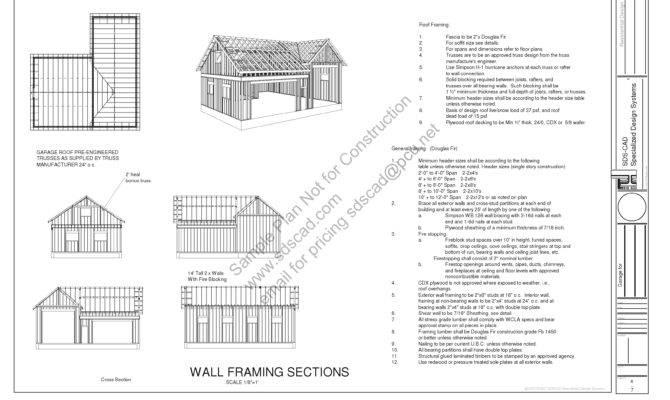 Garage Blueprints Plans
