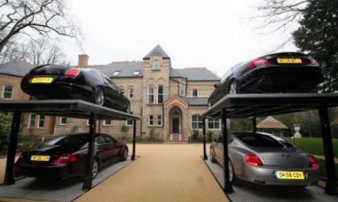Garage Designs Hydraulic Car Design Ideas Artistic Look