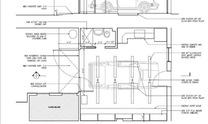 Garage Floor Plans Lift Home Desain