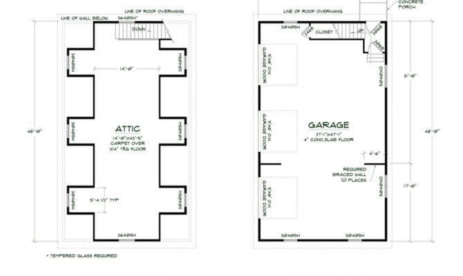 Garage Floorplans Simple