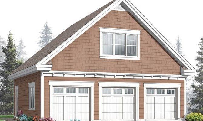 Garage Loft Plans Three Car Plan