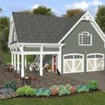 Garage Loft Plans Two Car Plan Covered Porch Design