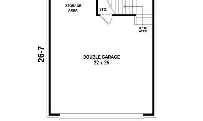 Garage Loft Plans Two Car Plan
