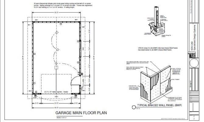 Garage Plan Blueprints Cabin Plans