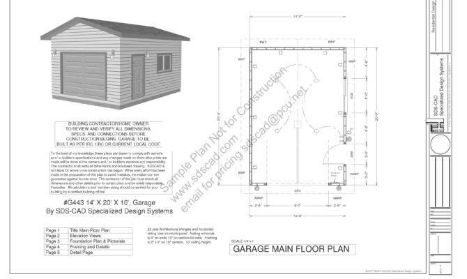 Garage Plan Blueprints Construction Drawings
