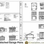 Garage Plan Floor Plans Shown Optional Features Sample Sheets