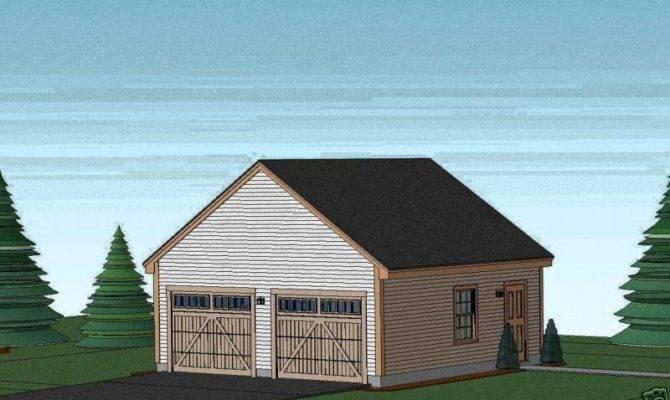 Garage Plans Blueprints Car Ebay