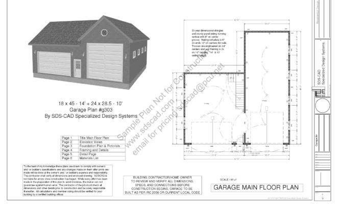 Garage Plans Blueprints Workshop Custom Car