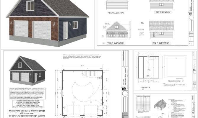 Garage Plans Bonus Room Sds