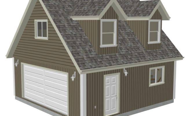 Garage Plans Loft Dormer Render Sds