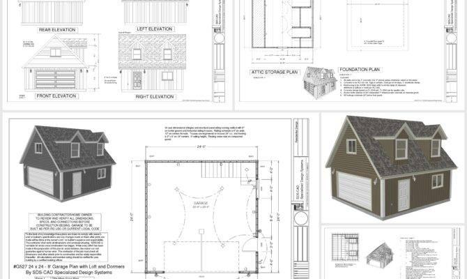 Garage Plans Loft Dormers Dwg Pdf Dormer