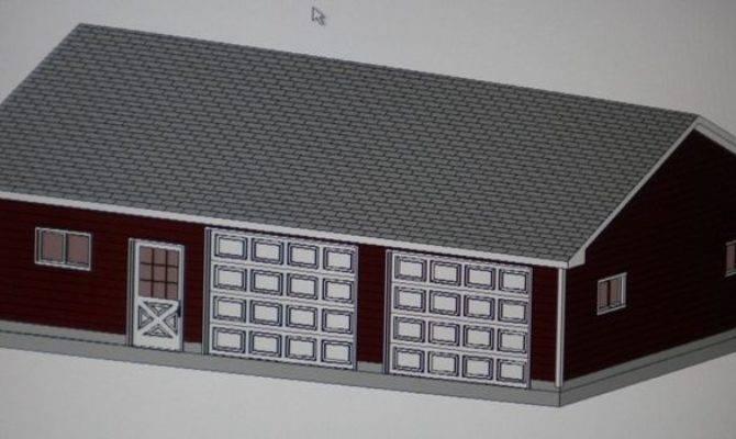 Garage Shop Plans Materials List Blueprints Ebay