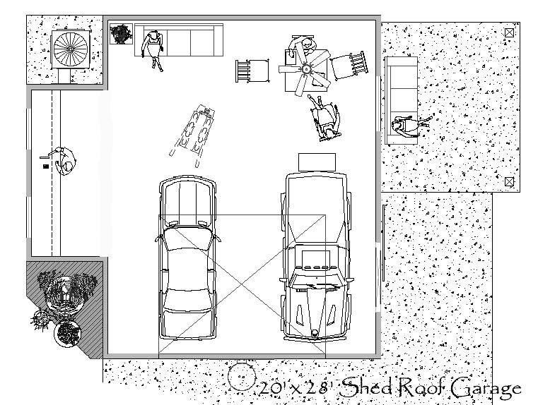 Garage Work Plans Designs Floor