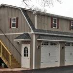 Garages Three Car Two Story Raised Roof Garage Double Wide Built