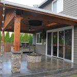 Gas Fire Pit Covered Porch
