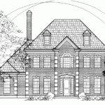 Georgian House Plan Picturesque Colonial First Floor Master