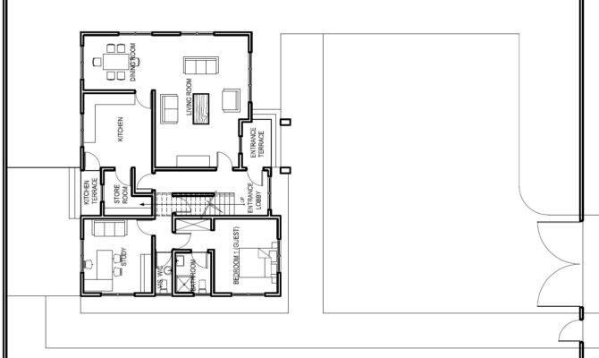 Ghana House Plans Accra Plan Ground Floor