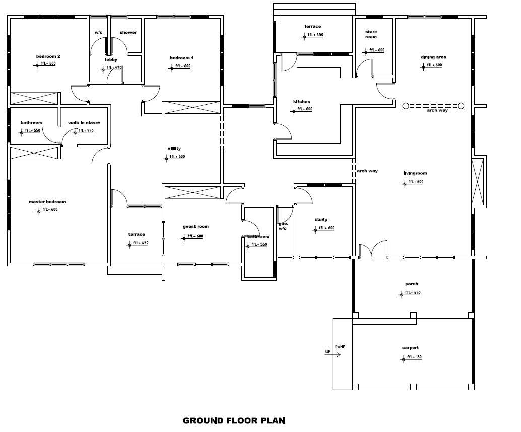 ghana house plans plan berma groundfloor home plans