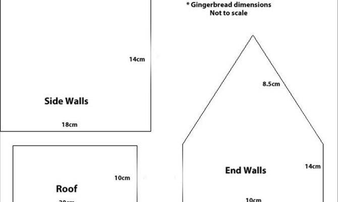 Gingerbread House Template Houses