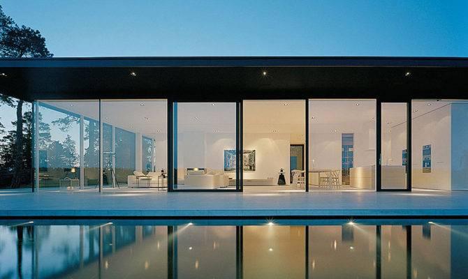 Glass Walls Stunning Lake House Sweden