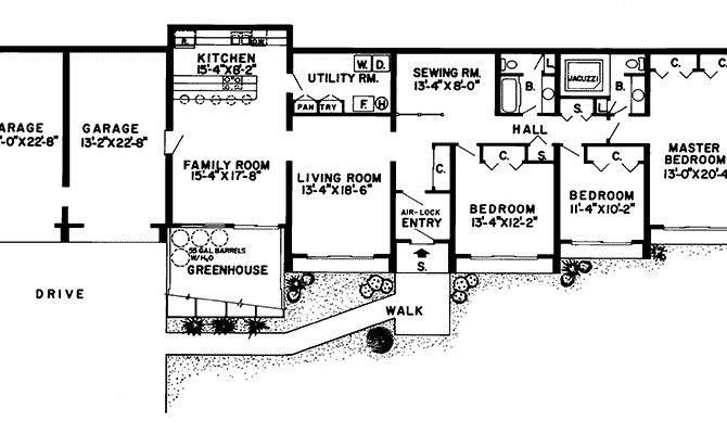 Glennon Green Berm Home Plan House Plans More