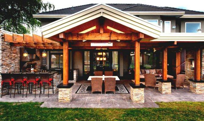 Gorgeous Pool House Outdoor Kitchen Plans Goodhomez