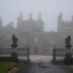 Gothic Mansion Surrounded Fog