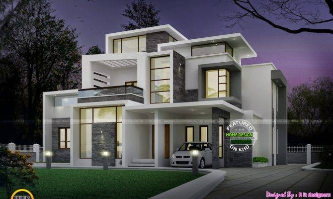 Grand Contemporary Home Design Night Bedroom Attached