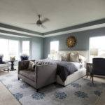 Grand Master Bedroom Tray Ceiling Accented Modern