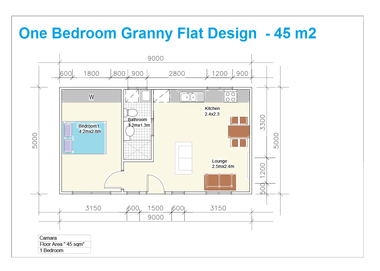 Granny Flat Building Plans South Africa Bedroom - Home Plans