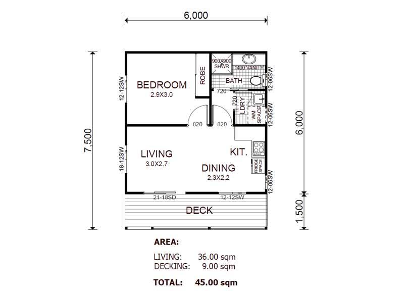 Granny Flat Home Plans Blueprints