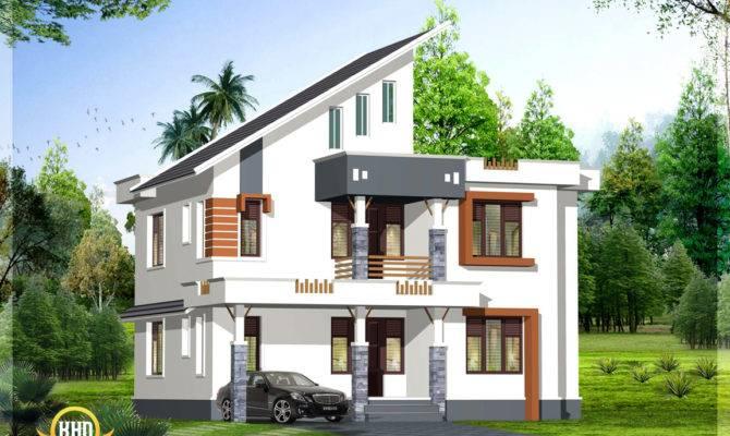 Great Bhk Contemporary Kerala Home Design