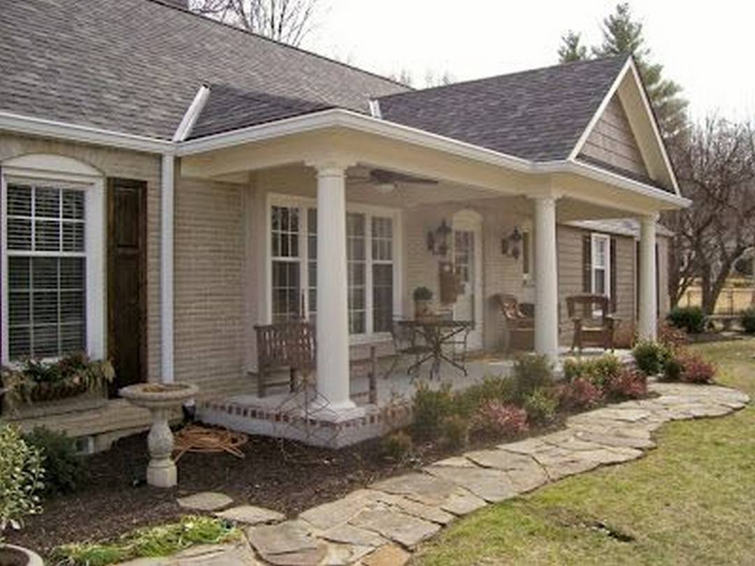 Great Front Porch Addition Ranch Remodeling Ideas - Home Plans