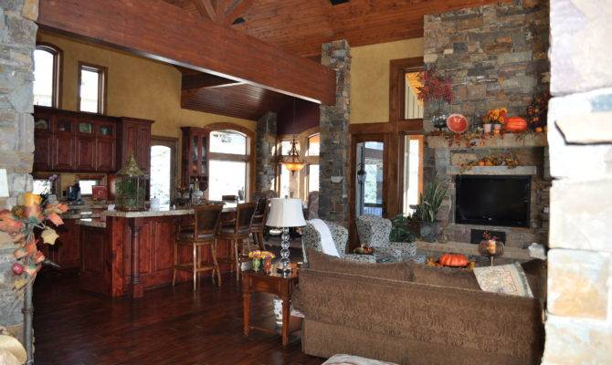 Great Room Open Floor Plan Celebrating Style Home
