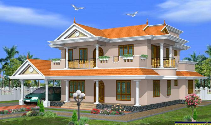 Green Homes Beautiful Storey House Design Feet