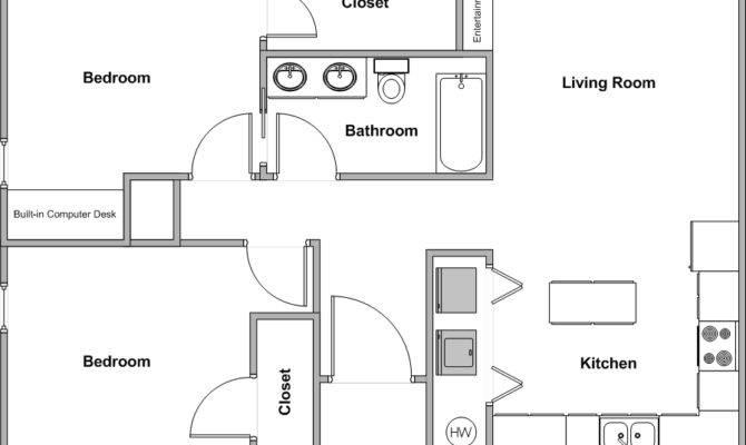 Griffin Park Duplexes Bedroom Bath Floor Plan