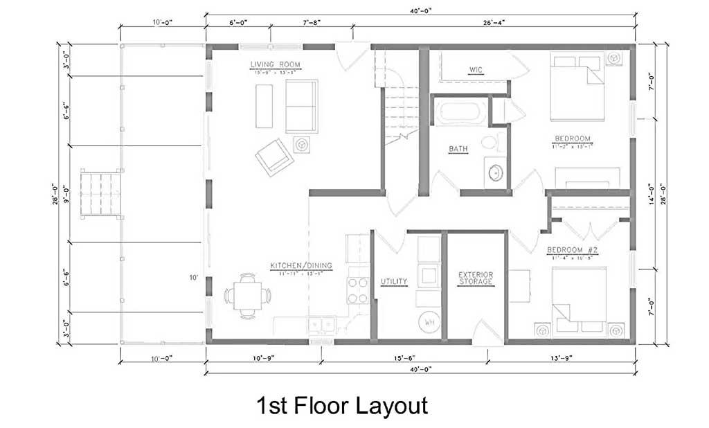 Ground Floor Layout Living Room Kitchen