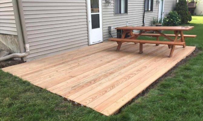 Ground Level Wood Deck Ideas Arch Dsgn