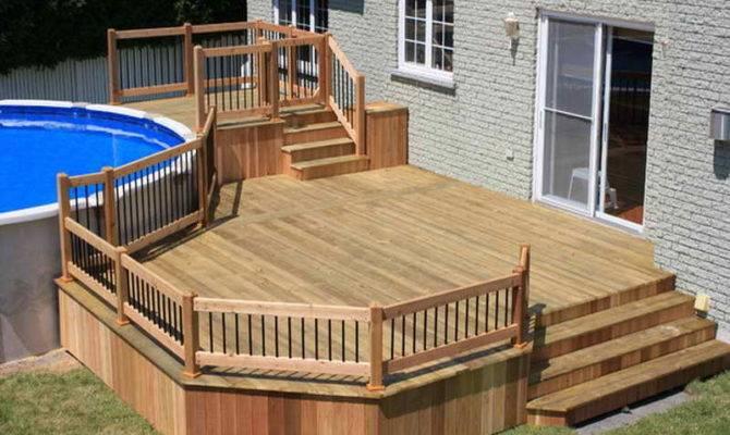 Ground Pool Decks Deck Plans Material List