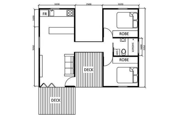 Guest House Floor Plan Bedroom Pinterest